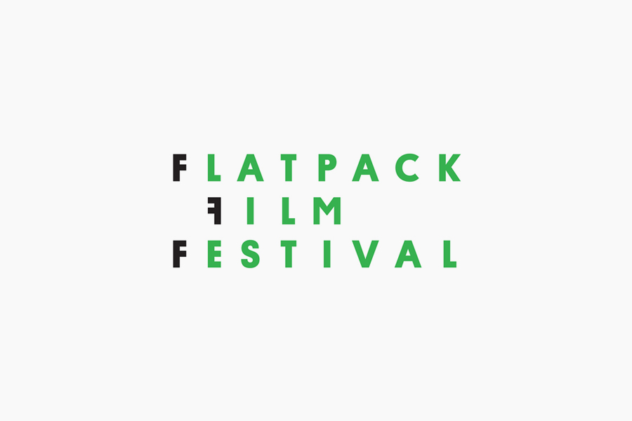 Sans-serif logotype designed by Dot Dash for Birmingham's Flatpack Film Festival