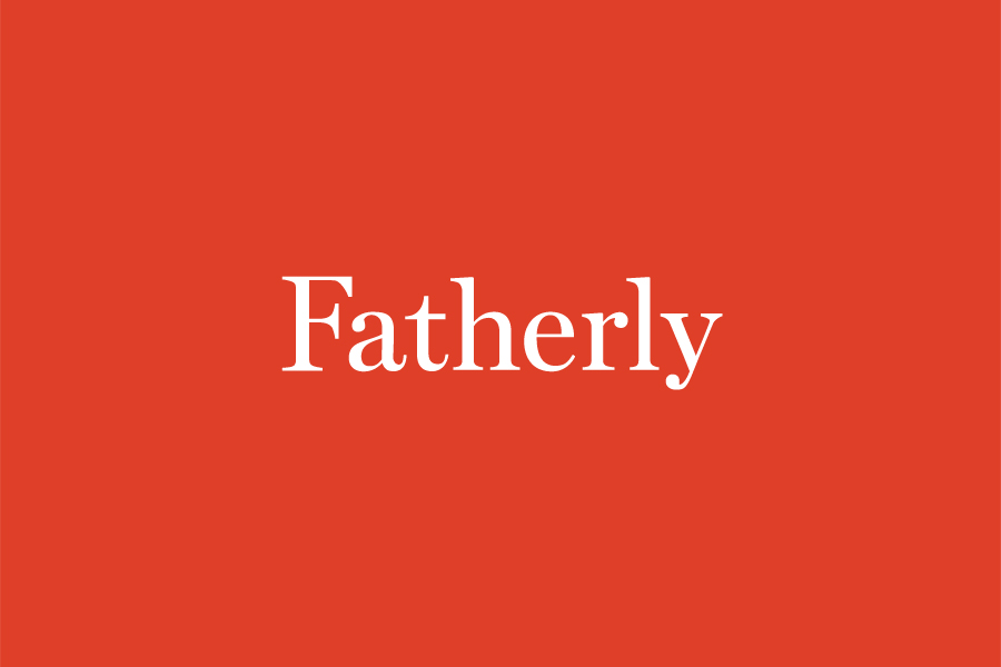 Custom serif logotype by Apartment One for Dad-centric parenting media platform Fatherly