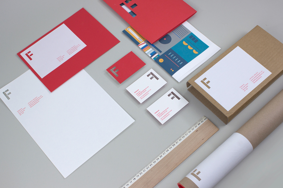 Logo and stationery with stencil cut detail created by digital design and branding agency Fieldwork