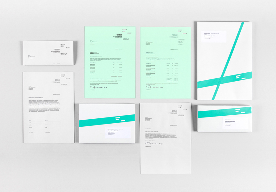 Stationery designed by LSDK for Frederik Laux Photography