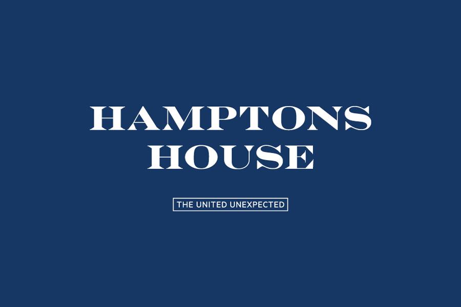Logotype designed by Moffitt.Moffitt for Sydney furniture and homeware retailer Hamptons House