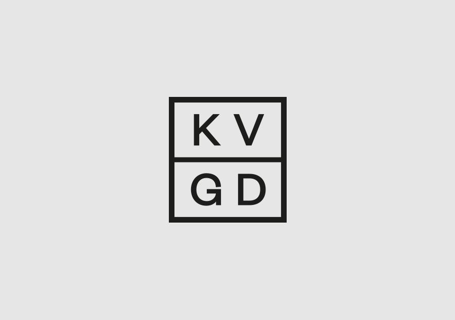 Logo designed by Kerr Vernon for design studio KVGD