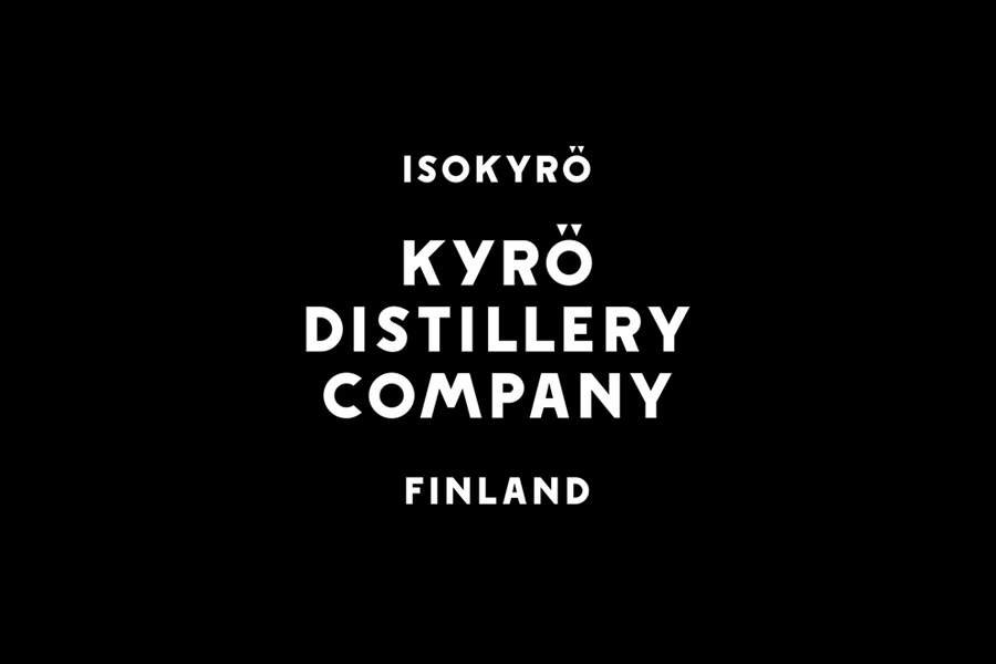 Logotype built from a custom typeface designed by Werklig for Kyrö Distillery Company