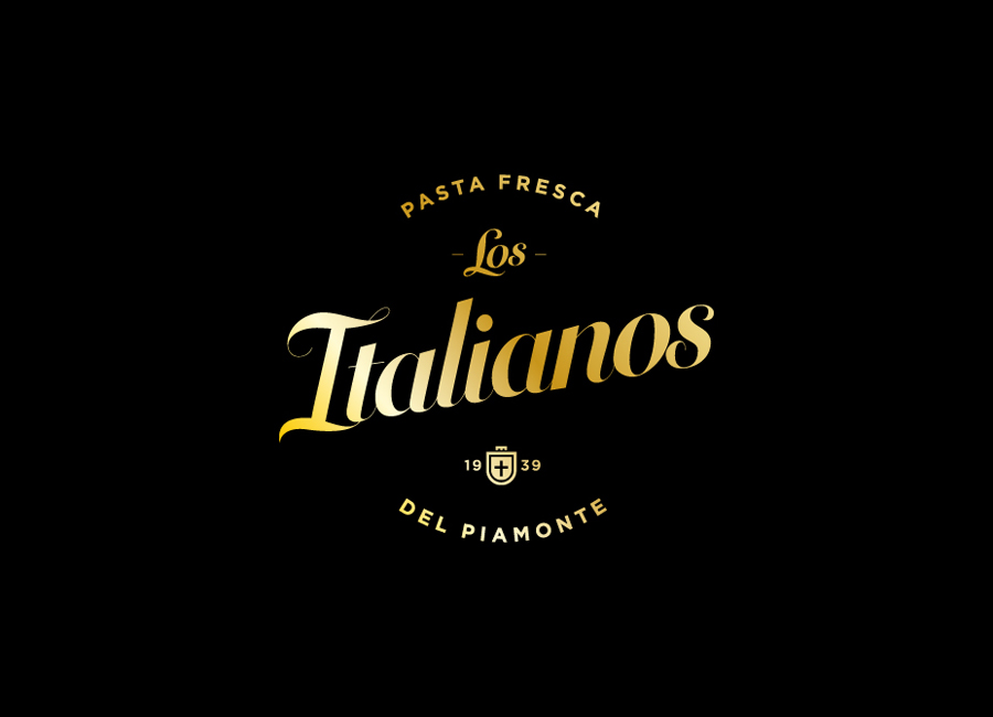 Logo designed by Huaman for Barcelona based traditional Italian food producer Los Italianos