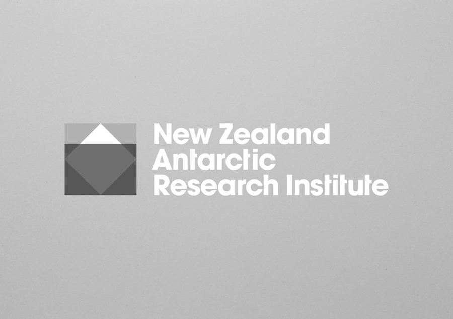 Logo designed by BRR for New Zealand Antarctic Research Institute