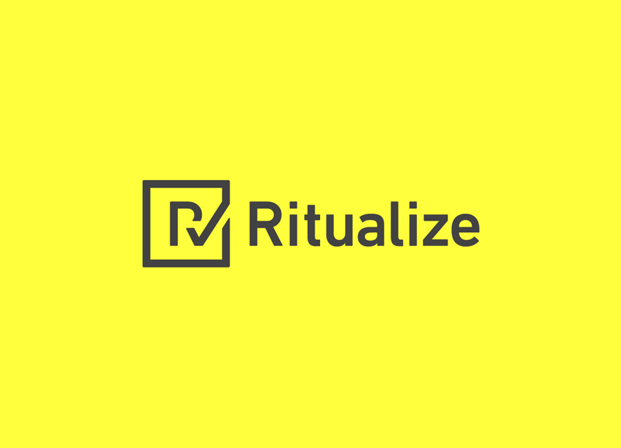 Logo and logotype designed by Shorthand for fitness and lifestyle app Ritualize
