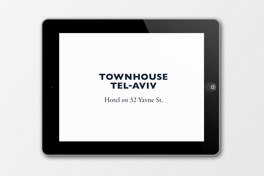 Logo for Tel Aviv hotel Townhouse designed by Koniak