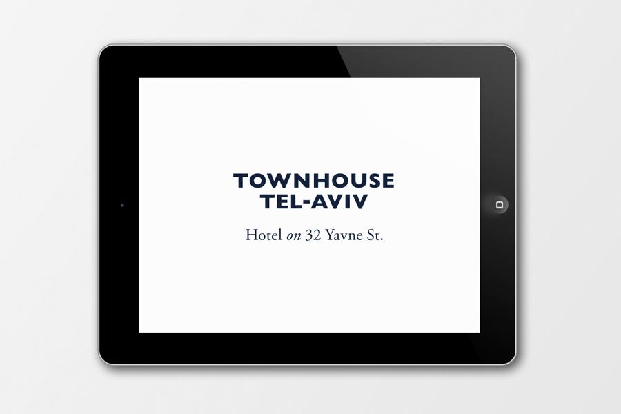 Logo for Tel Aviv hotel Townhouse designed by Koniak