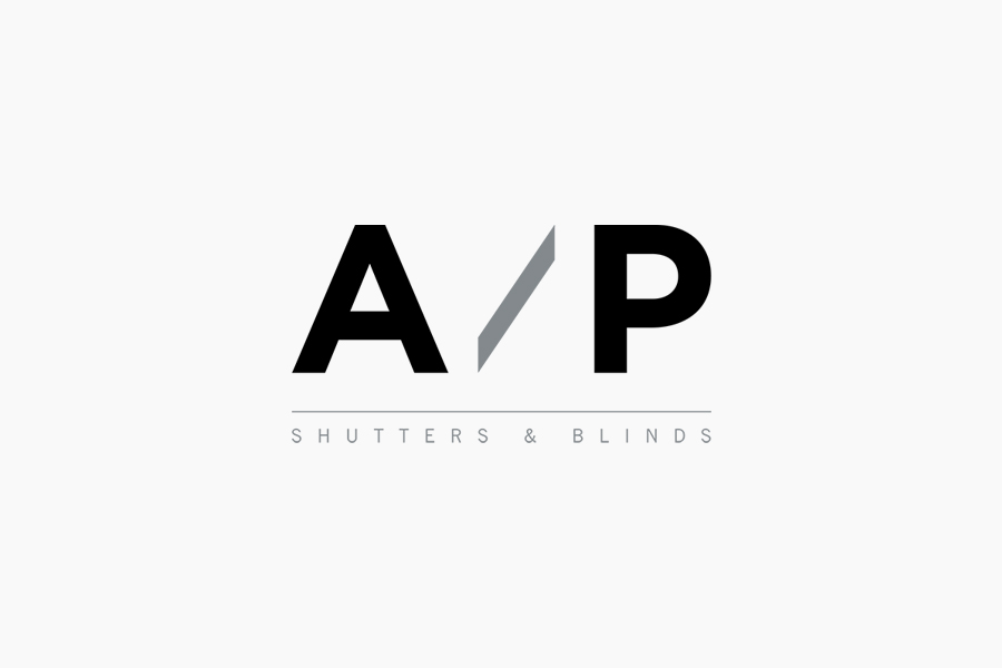 Logo designed by The Drop for AP Shutters & Blinds
