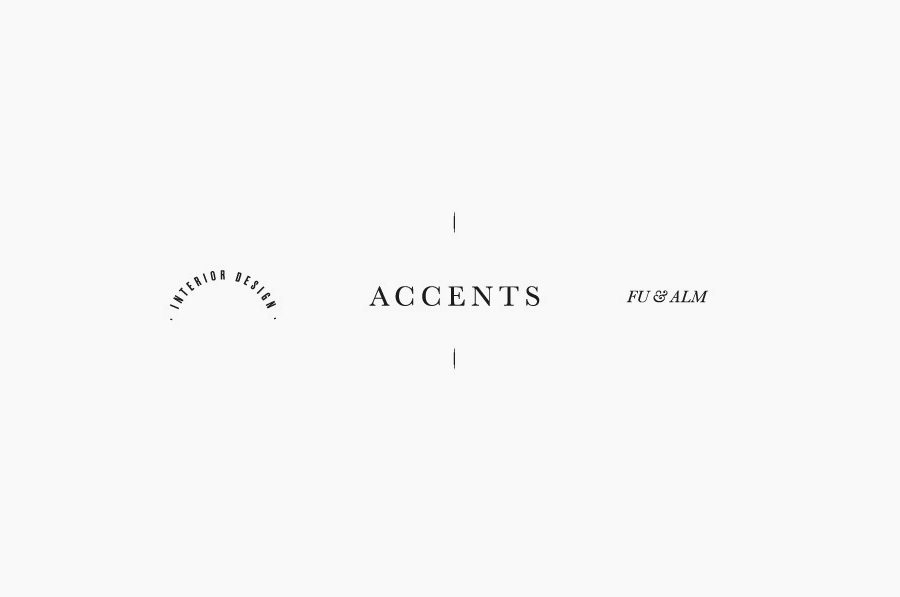 Logo designed by La Tortilleria for home furnishing retailer and interior design service Accents