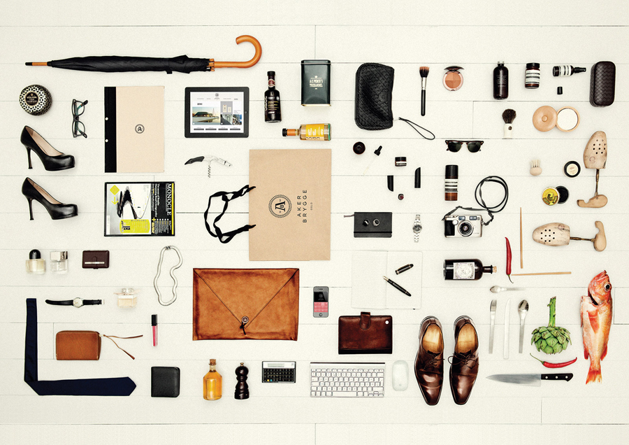 Stationery and accessory design by Bleed for the redevelopment of Oslo waterside district Aker Brygge