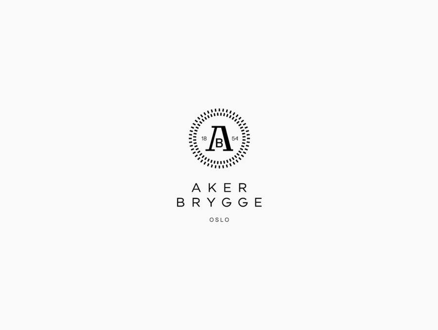 Logo design by Bleed for the redevelopment of Oslo waterside district Aker Brygge