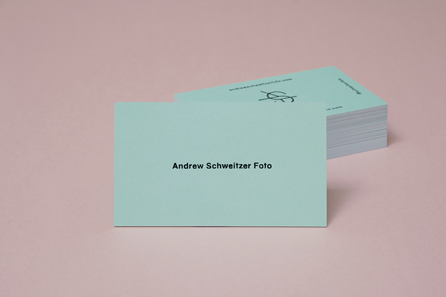 Logo and business card design by Studio Constantine for Andrew Schweitzer Foto