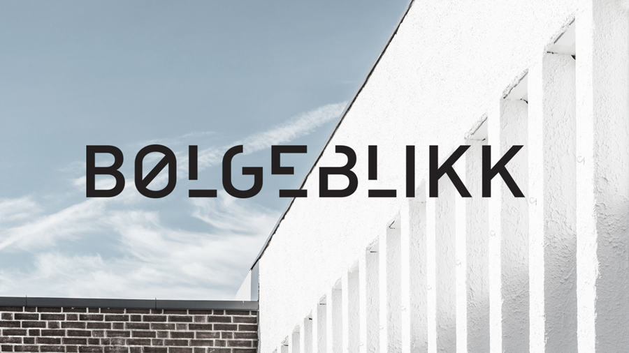 Sans-serif logotype designed by Tank for architecture firm Bølgeblikk