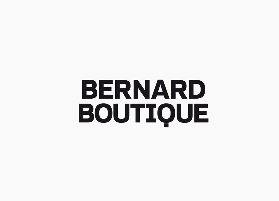Logotype for fashion store Bernard Boutique designed by Bunch
