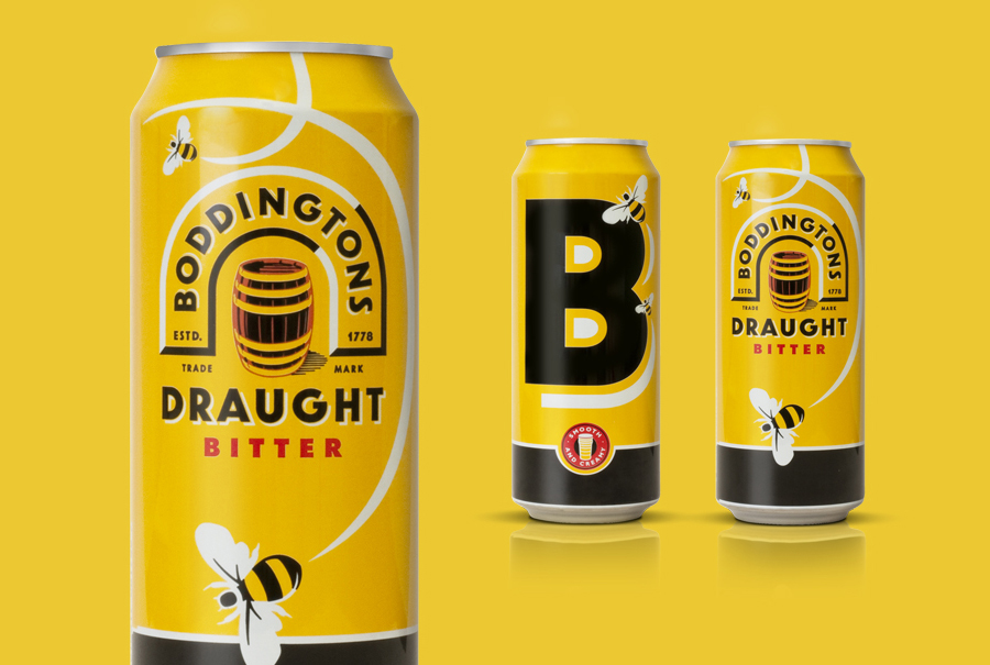 New packaging for Inbev's bitter ale brand Boddingtons designed by JKR