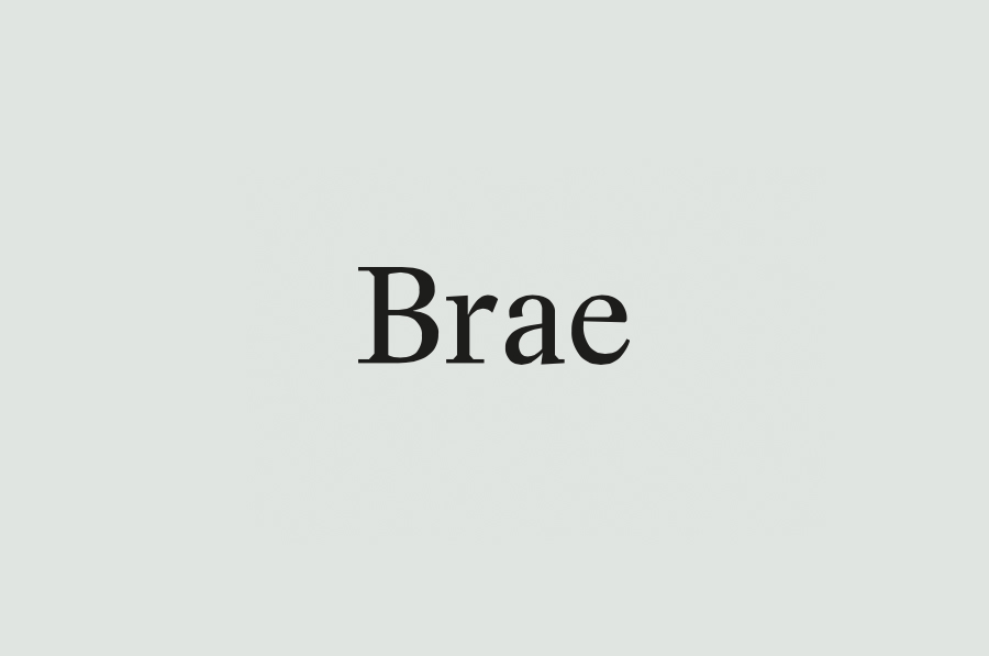Logotype designed by Studio Round for restaurant Brae