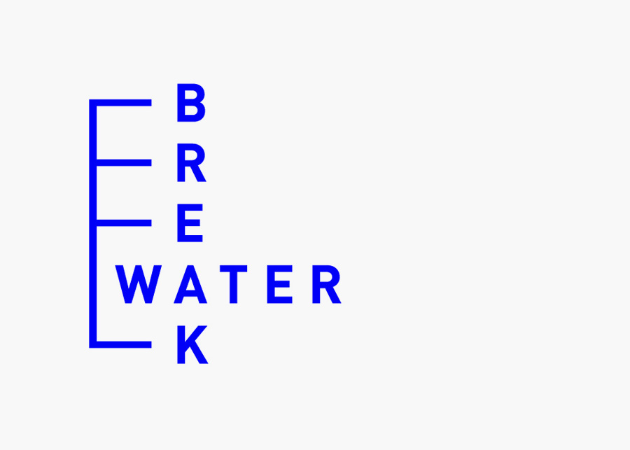 Logo design for Swedish marine cargo logistics company Breakwater designed by Lundgren+Lindqvist