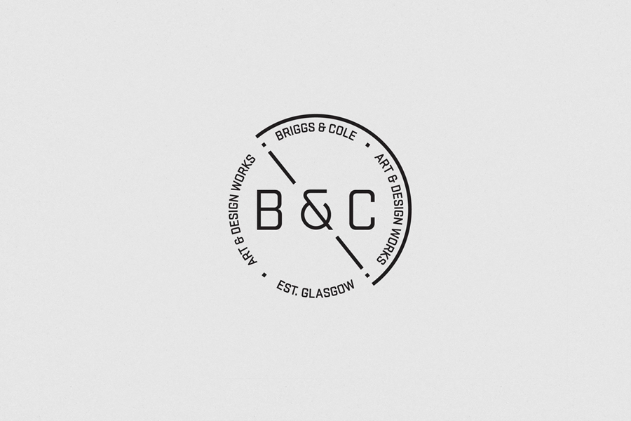 Logo design by Freytag Anderson for art and design partnership Briggs & Cole