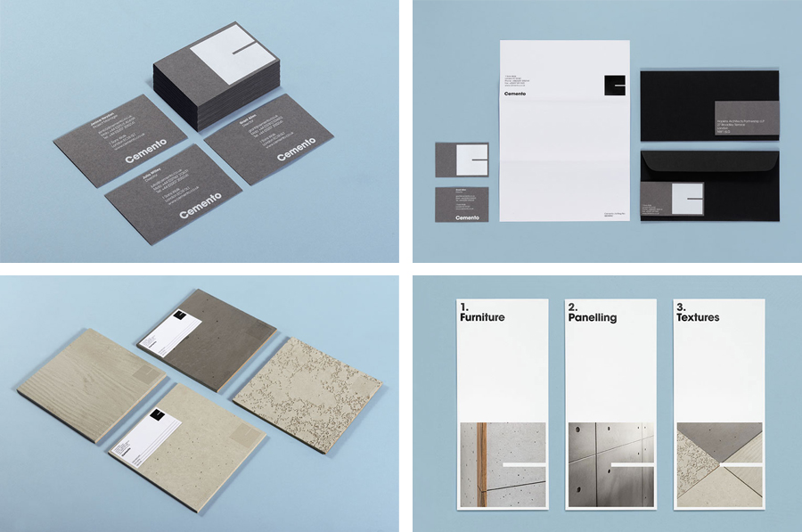 Logo, stationery and signage for Cemento designed by St