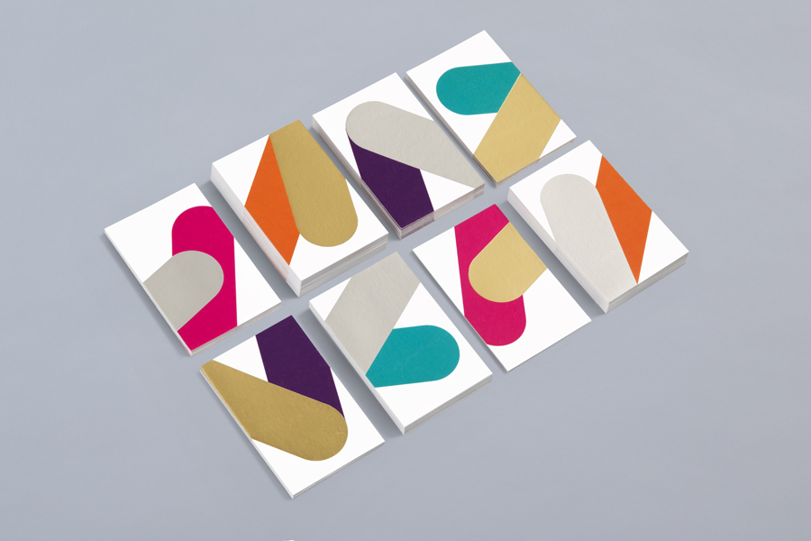 Business cards with metallic ink detail for print production studio Cerovski designed by Bunch