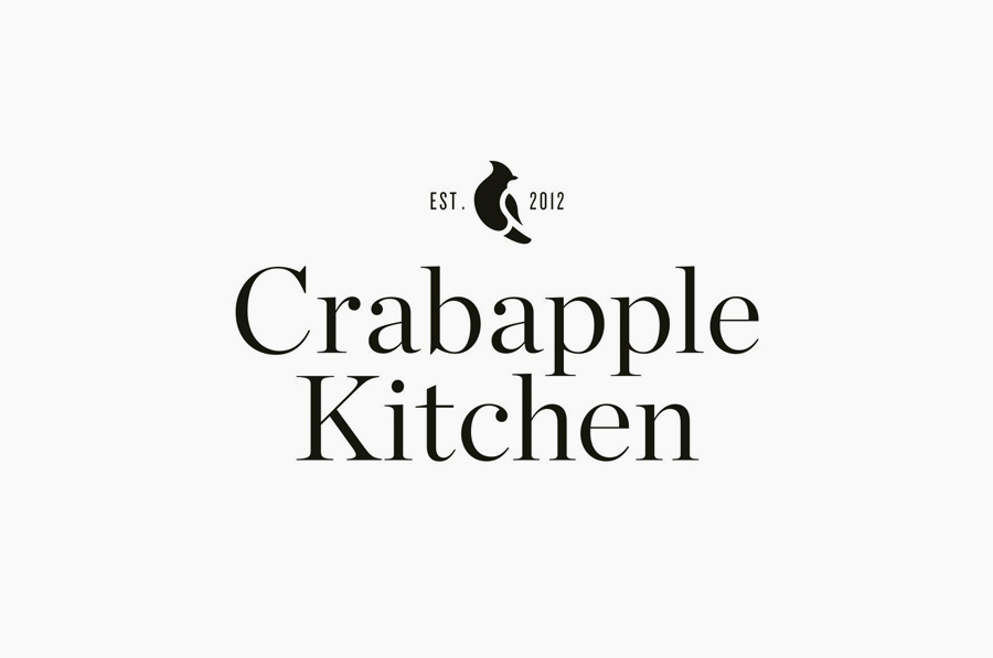 Logo design by Swear Words for Crabapple Kitchen