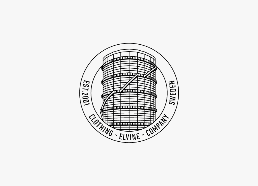 Logo for Swedish fashion and clothing brand Elvine designed by Lundgren+Lindqvist