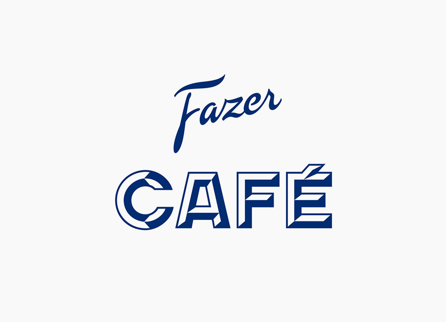 Logotype for Helsinki-based Fazer Cafe designed by Kokoro & Moi