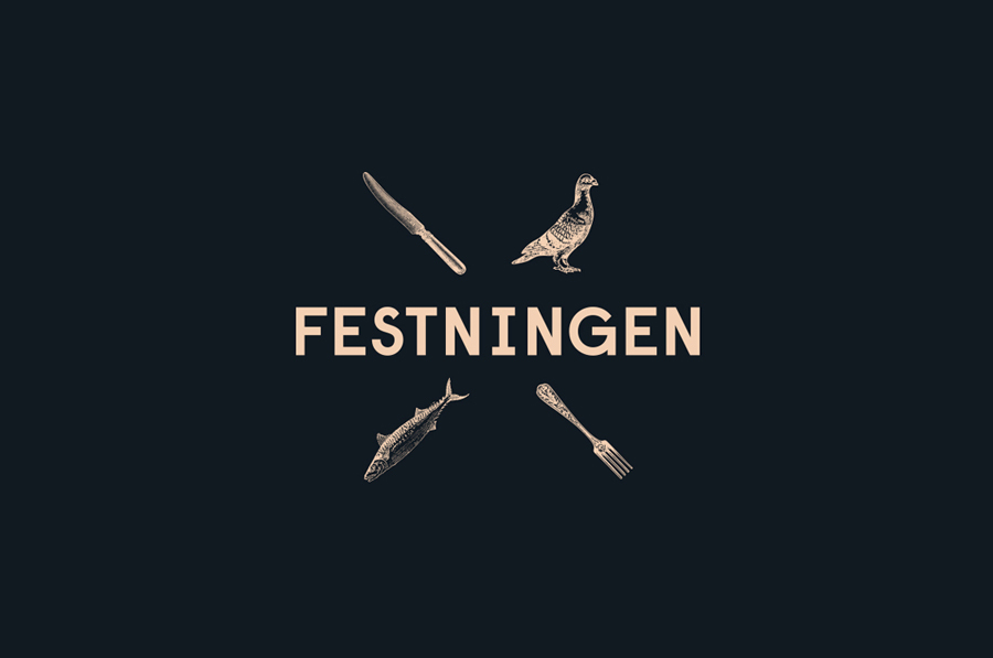 Logo Design By Uniform For Oslo Brasserie Festningen