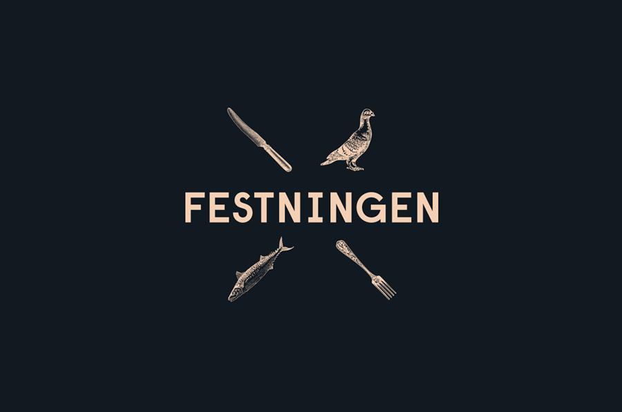 Logo design by Uniform for Oslo brasserie Festningen