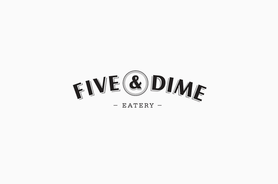 Logo design by Bravo Company for Five & Dime