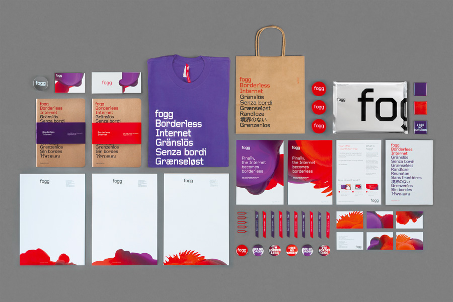 Logotype and collateral created by Kurppa Hosk and Bunch for international fixed cost mobile data traffic service Fogg
