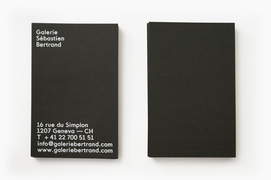 Brand Identity for Sébastien Bertrand Gallery by Neo Neo - BP&O