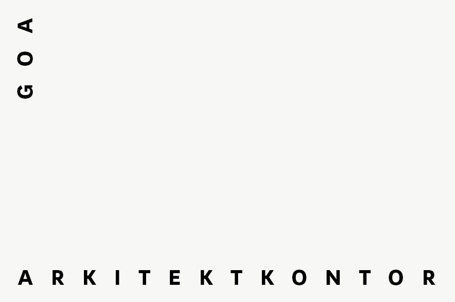Logotype designed by Heydays for Oslo based architecture studio Goa Arkitektkontor