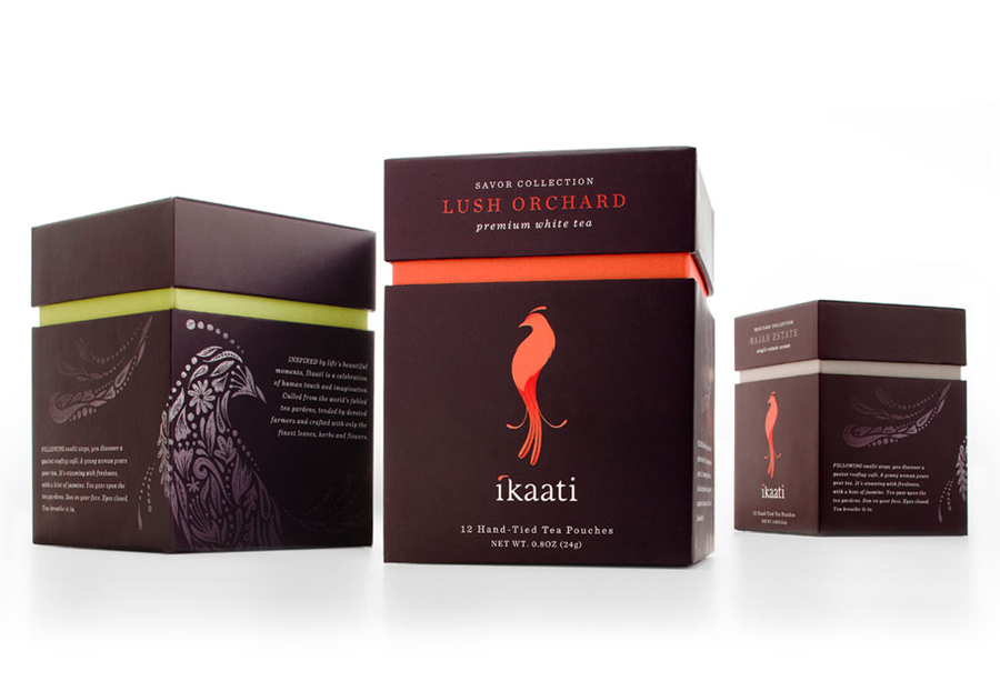 Packaging designed by Studio MPLS for Ikaati tea