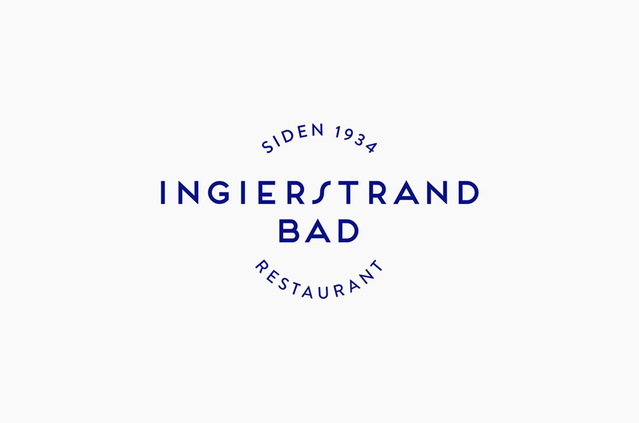 Logo designed by Uniform for recently refurbished Norwegian restaurant Ingierstrand Bad