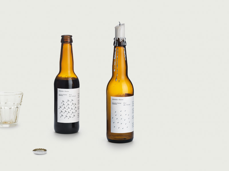 Packaging with geometric illiustration printed with heat reactive ink created by Bedow for limited edition ale range from Mikkeller