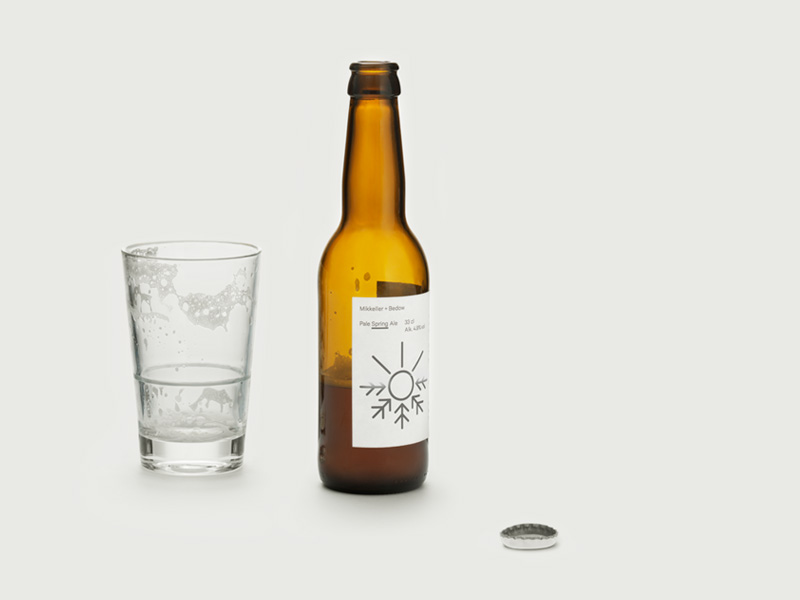 Packaging with geometric illiustration printed with heat reactive ink created by Bedow for a limited edition beer range from Mikkeller