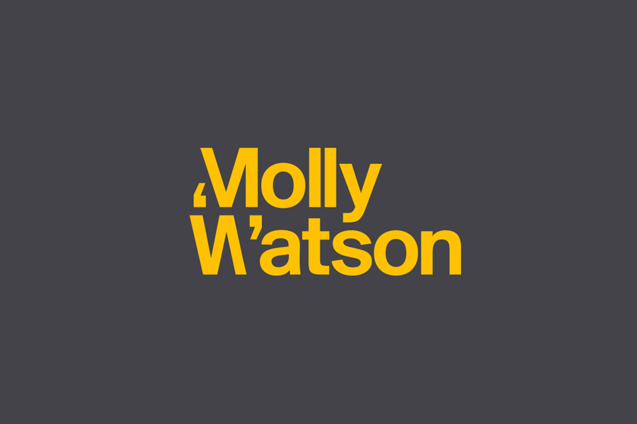 Logotype designed by Studio Blackburn for communications specialist Molly Watson