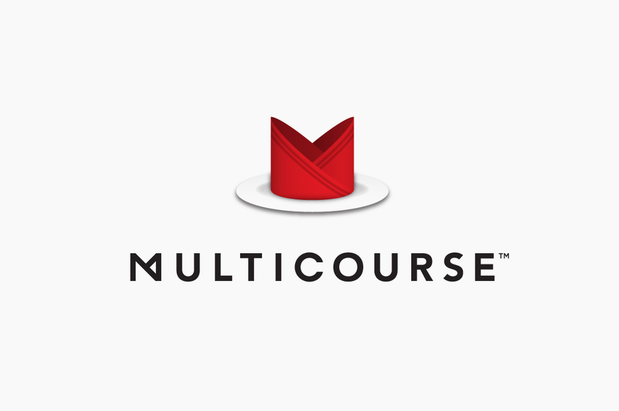Logo for Multicourse designed by Bravo Company