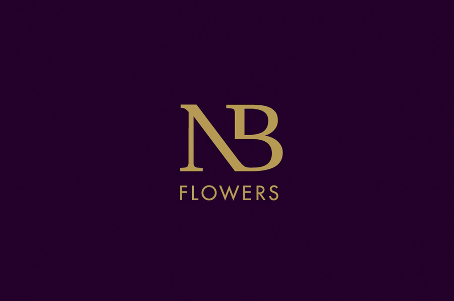 Logo design for florist NB Flowers by Karoshi