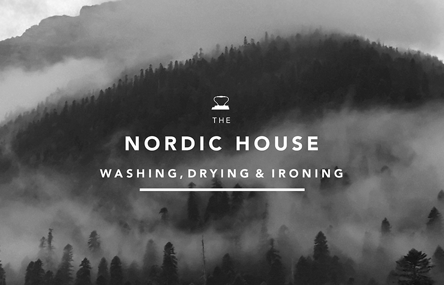 Logotype designed by Anagrama for dry cleaning shop Nordic House