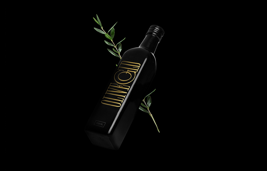 Logo and packaging design by Anagrama for premium cold-pressed olive oil brand Olive Gold