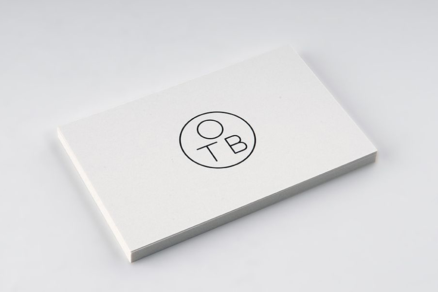 Logo and business card developed by Coast for furniture design and manufacturing workshop One To Be