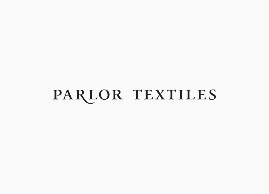 Logotype design for textile company Parlor Textiles designed by Face