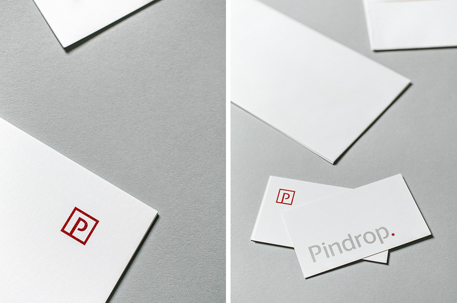 Logotype and stationery designed by Nudge for bank and financial institution regulation resource Pindrop