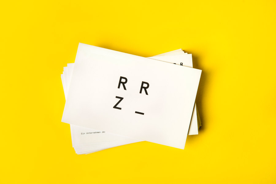 Logotype and business card by Moodley for Raiffeisen Rechenzentrum