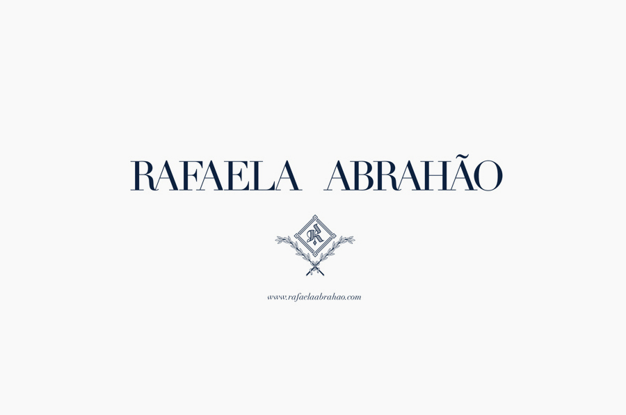Logotype and monogram design by Br/Bauen for fashion blogger Rafaela Abrahão