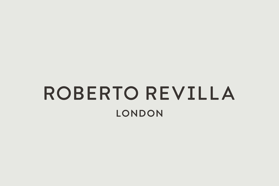 Logotype for London tailor Roberto Revilla designed by Friends