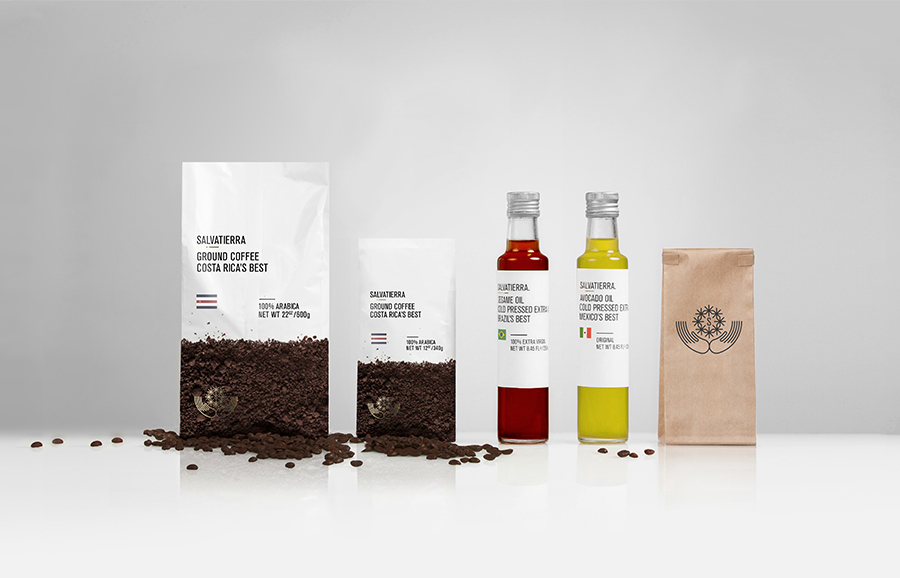 Packaging designed by Anagrama for Latin American premium goods exporter Salvatierra